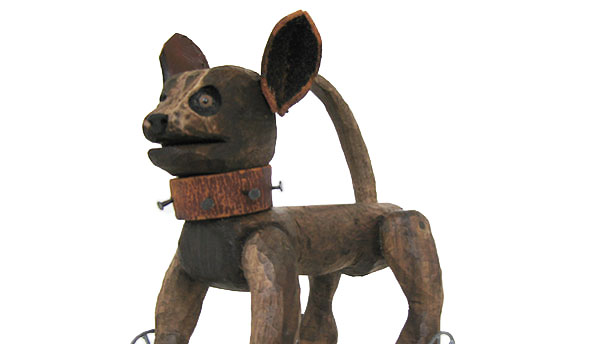 A photograph of a sculpture of a Chihuahua by KJ James